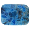 Blue Crazy Lace Agate 30x40mm Rectangle 4Pcs Approx